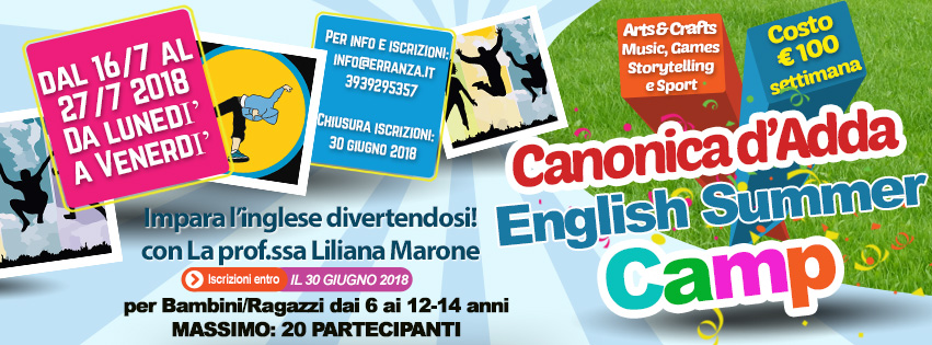 English Summer Camp Canonica d'Adda