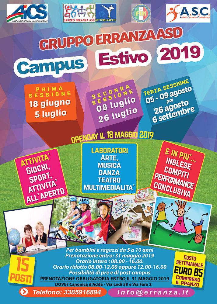 Campus Gruppo Erranza Asd 2019 Canonica d'Adda